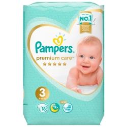 Pampers подгузники Premium Care 3 (6-10 кг) 18 шт.