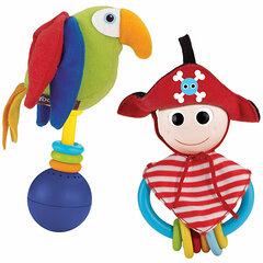 Прорезыватель-погремушка Yookidoo Пират и его попугай