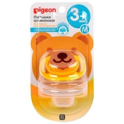 Пустышка силиконовая анатомическая Pigeon Bear 3+ (1 шт)