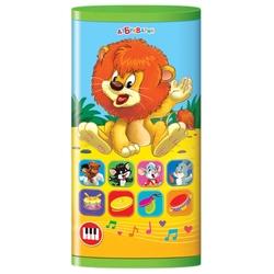 Интерактивная развивающая игрушка Азбукварик Смартфончик двусторонний Львёнок и мультяшки