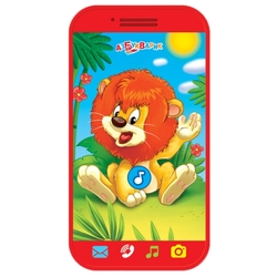 Интерактивная развивающая игрушка Азбукварик Мини-смартфончик Львёнок