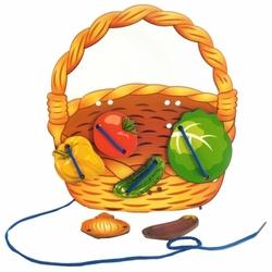 Шнуровка Нескучные игры Корзина с овощами (7928)