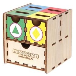 Сортер Woodland Комодик куб Фигуры цвет 119102